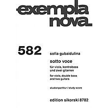 Sikorski Sotto Voce (Viola, Double Bass and Two Guitars) Score Series Softcover Composed by Sofia Gubaidulina