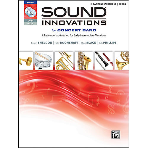 Alfred Sound Innovations for Concert Band Book 2 E-Flat Baritone Sax Book CD/DVD