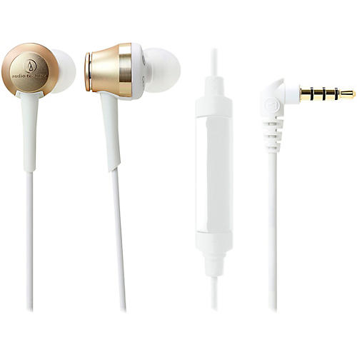 Audio-Technica Sound Reality In-Ear High-Resolution Audio Headphones With In-Line Mic And Control
