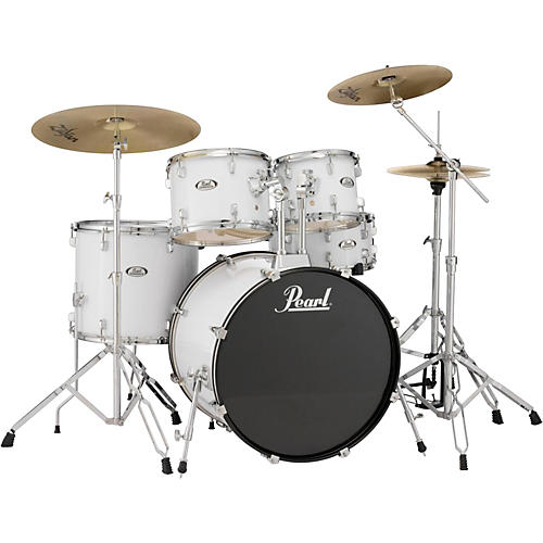 pearl soundcheck complete 5 pc drum set with hardware and zildjian planet z cymbals guitar center. Black Bedroom Furniture Sets. Home Design Ideas