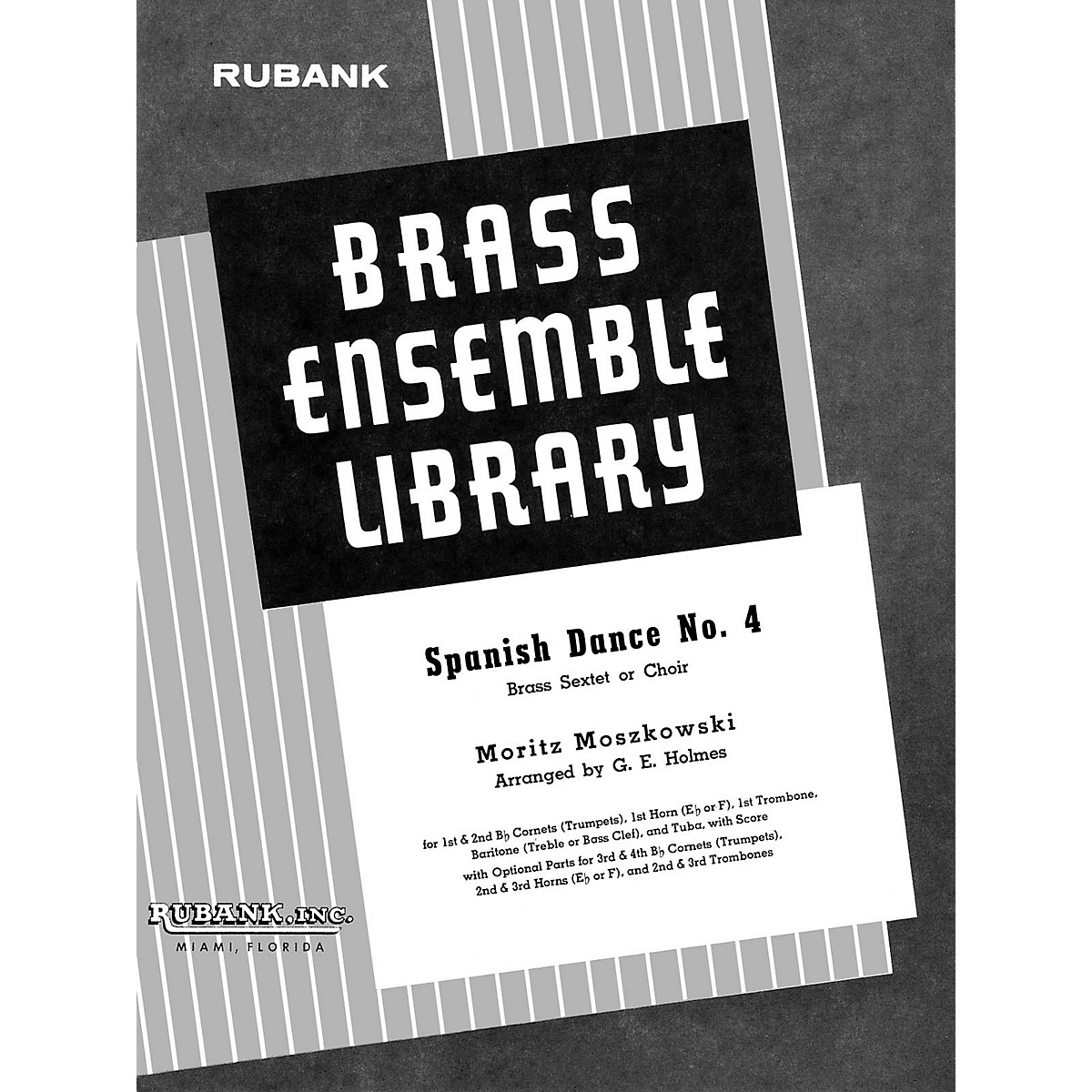 Rubank Publications Spanish Dance No. 4 (Brass Sextet/Choir - Grade 4) Rubank Solo/Ensemble Sheet Series