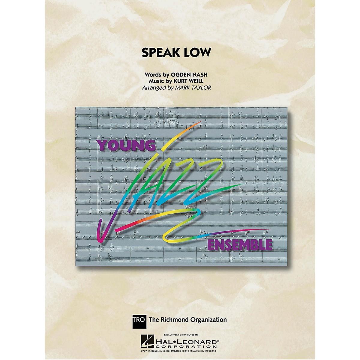 Hal Leonard Speak Low Jazz Band Level 3 Arranged by Mark Taylor