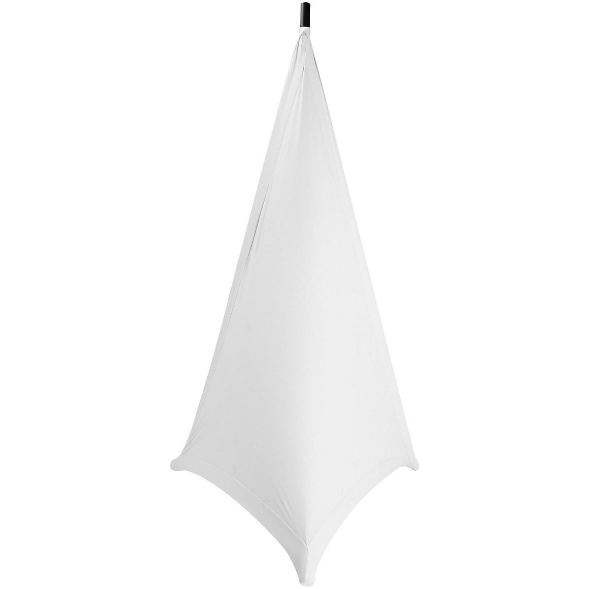 On-Stage Speaker/Lighting Stand Skirt, White