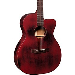 Special OMC 15ME Streetmaster Style Acoustic-Electric Guitar Weathered Red