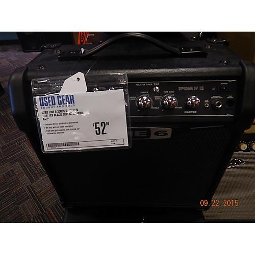 Line 6 Spider IV 15W 1X8 Black Guitar Combo Amp