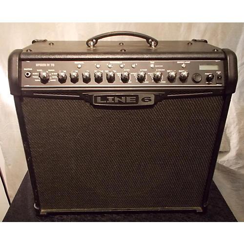 Line 6 Spider IV 75W 1X12 Black Guitar Combo Amp