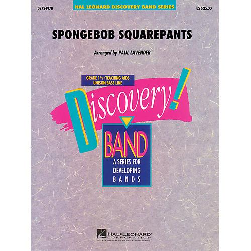 Hal Leonard SpongeBob SquarePants Concert Band Level 1.5 Arranged by Paul Lavender