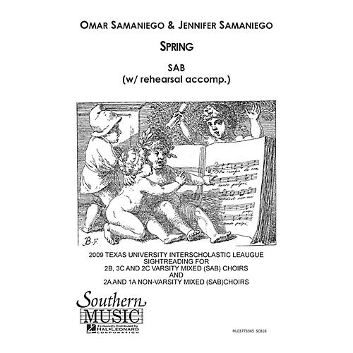 Hal Leonard Spring (Choral Music/Octavo Secular Sab) SAB Composed by Samaniego, Omar