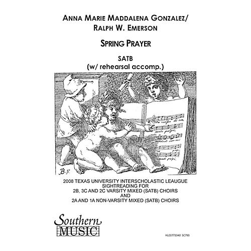 Hal Leonard Spring Prayer (Choral Music/Octavo Sacred Satb) SATB Composed by Gonzalez, Anna Marie
