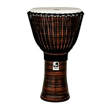 Toca Spun Copper Rope Tuned Djembe with Bag