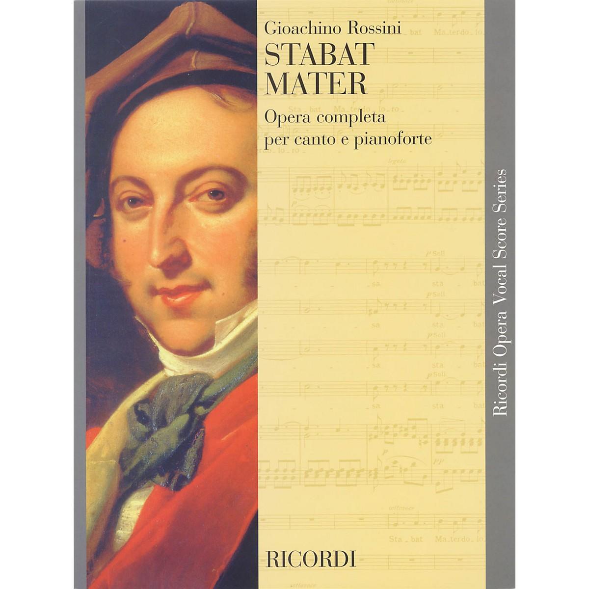 Ricordi Stabat Mater (Vocal Score) SATB Composed by Gioacchino Rossini