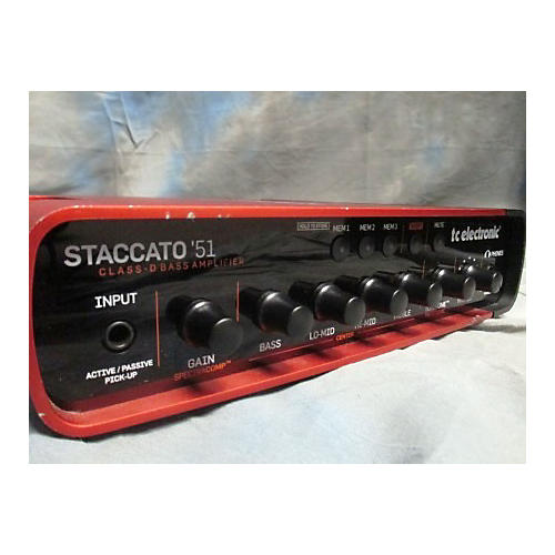 used tc electronic staccato 39 51 bass amp head guitar center. Black Bedroom Furniture Sets. Home Design Ideas