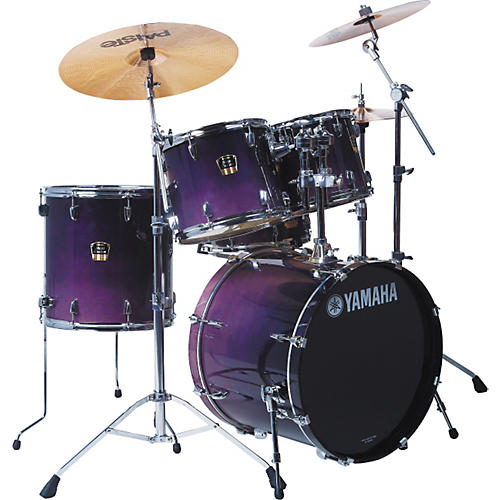 yamaha stage custom advantage standard 5 piece drum set purple blue fade guitar center. Black Bedroom Furniture Sets. Home Design Ideas