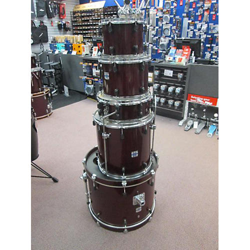 Used Yamaha Stage Custom Drum Kit Candy Apple Red Guitar Center