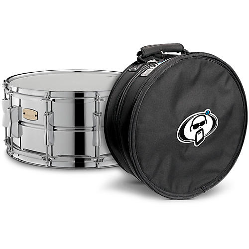 Yamaha Stage Custom Steel Snare with Protection Racket Case