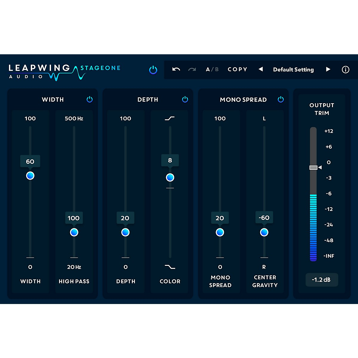 Leapwing Audio StageOne Width and Depth Plug-in Software Download