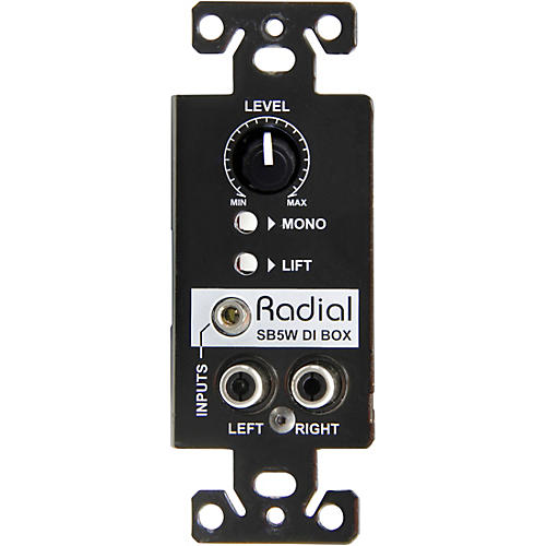 Radial Engineering Stagebug SB5W Wall Mounted Multimedia Stereo DI box