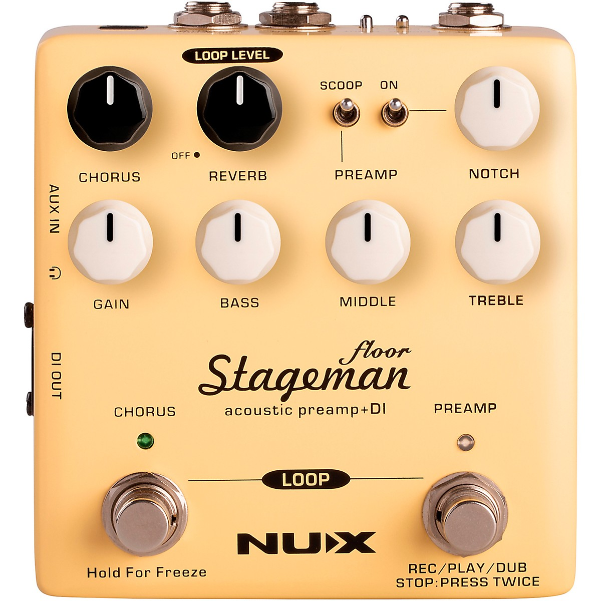 NUX Stageman Floor Acoustic Preamp and DI