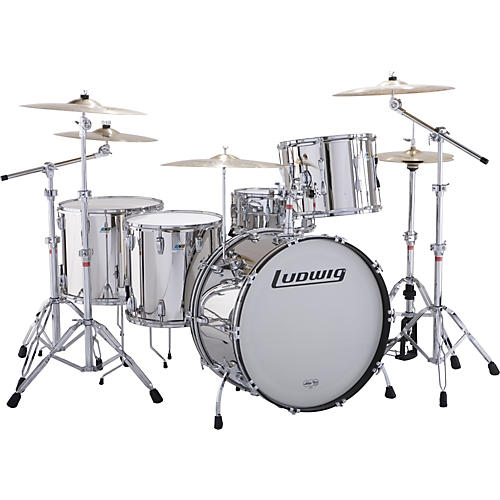 Ludwig Stainless Steel Limited Edition 5-Piece Drum Set with Hardware