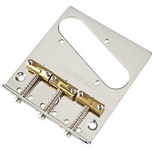 Hipshot Stainless Steel Tele Bridge 3 Hole Mount With Compensated Saddles Level 1 Chrome