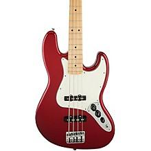 Standard Jazz Bass Guitar Candy Apple Red Gloss Maple Fretboard