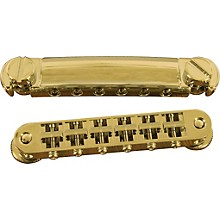 TonePros Standard Locking Tune-o-matic/Tailpiece Set (small posts/notched saddles) Level 1 Gold