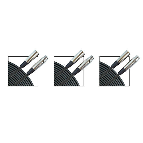 Musician's Gear Standard Microphone Cable - 20 ft. - 3 Pack