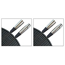 Musician's Gear Standard Microphone Cable-20 ft.-Black (2 Pack)