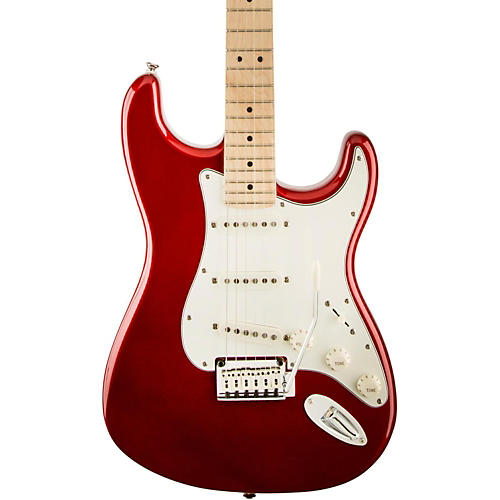 squier standard stratocaster electric guitar candy apple red maple fretboard guitar center. Black Bedroom Furniture Sets. Home Design Ideas