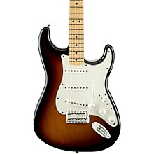 Standard Stratocaster Electric Guitar with Maple Fretboard Brown Sunburst Gloss Maple Fretboard