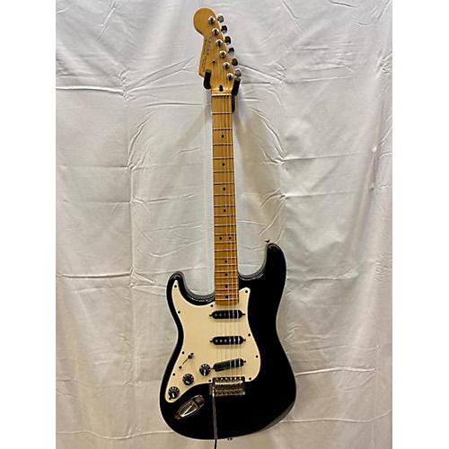 used fender standard stratocaster left handed electric guitar black guitar center. Black Bedroom Furniture Sets. Home Design Ideas