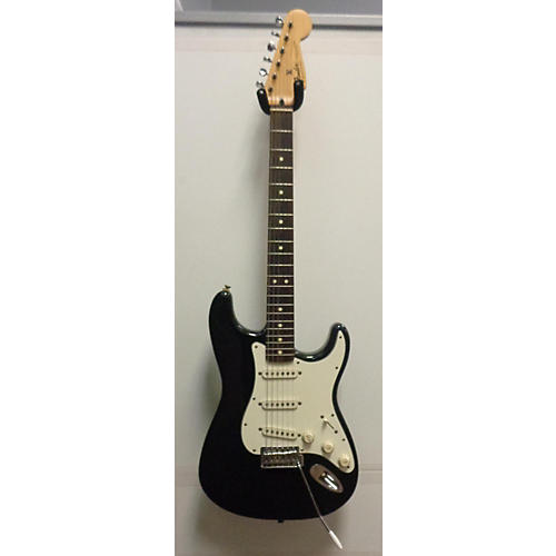 used fender standard stratocaster solid body electric guitar black guitar center. Black Bedroom Furniture Sets. Home Design Ideas