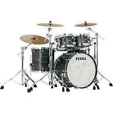 Star Walnut 4-Piece Shell Pack with 22 in. Bass Drum Satin Charcoal Japanese Sen