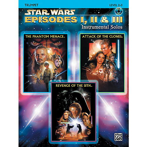 Alfred Star Wars Episodes I, II & III Instrumental Solos Trumpet (Book/CD)