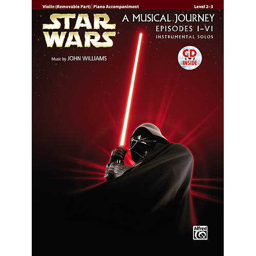 Alfred Star Wars Violin Instrumental Solos for Strings (Movies I-VI) Book & CD