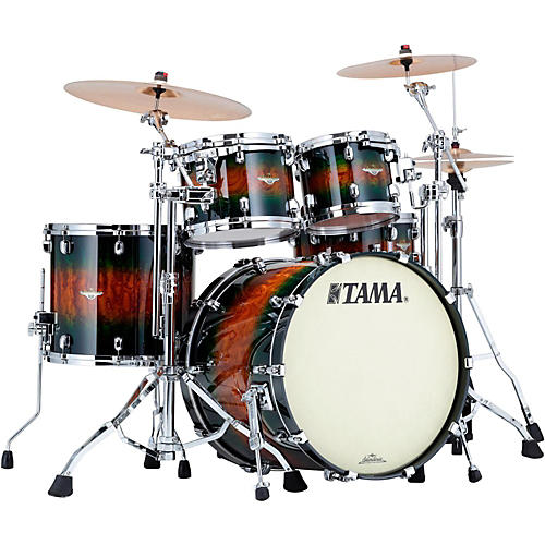 TAMA Starclassic Bubinga Exotix 4-Piece Shell Pack with Chrome Hardware