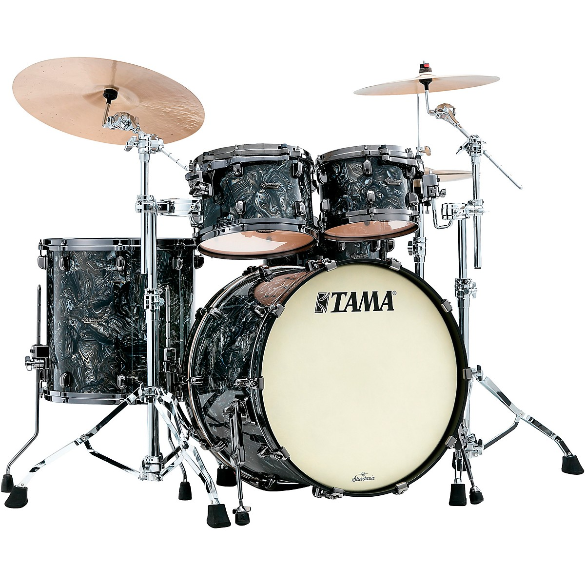 TAMA Starclassic Maple 4-Piece Shell Pack with Black Nickel Hardware and 22 in. Bass Drum