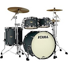 Starclassic Maple 4-Piece Shell Pack with Black Nickel Hardware and 22 in. Bass Drum Flat Black