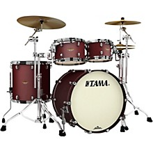 Starclassic Maple 4-Piece Shell Pack with Black Nickel Hardware and 22 in. Bass Drum Flat Burgundy Metallic
