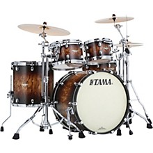 Starclassic Maple 4-Piece Shell Pack with Chrome Hardware and 22 in. Bass Drum Molten Satin Brown Burst
