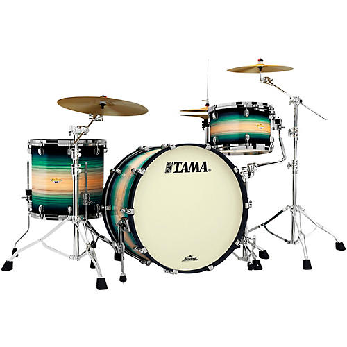 TAMA Starclassic Maple Exotix Pacific Walnut 3-Piece Shell Pack with Black Nickel Hardware and 24