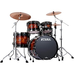 tama starclassic performer b b 4 piece shell pack with 22 bass drum molten brown burst black. Black Bedroom Furniture Sets. Home Design Ideas