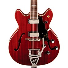Starfire V Hollowbody Archtop Electric Guitar with Guild Vibrato Tailpiece Cherry Red