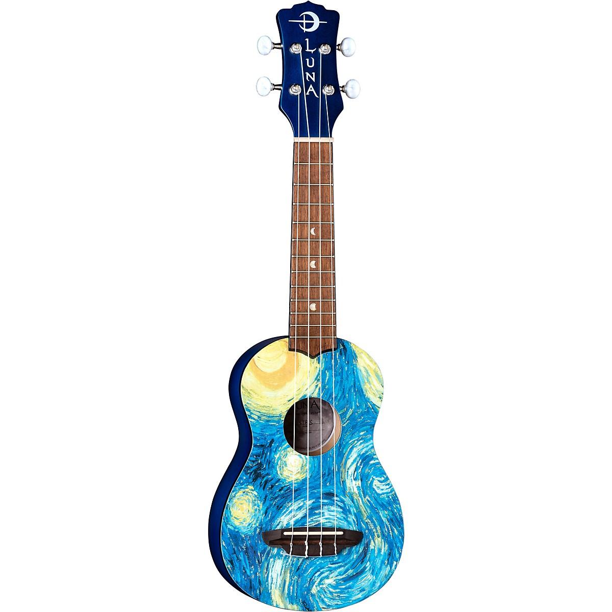 Luna Guitars Starry Night Soprano Ukulele