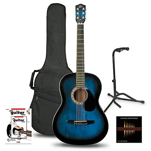 Rogue Starter Acoustic Guitar Blue Burst - Beginner's Package