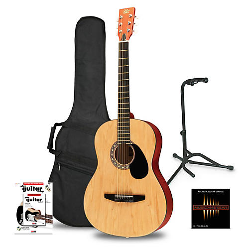 Rogue Starter Acoustic Guitar Matte Natural - Beginner's Package