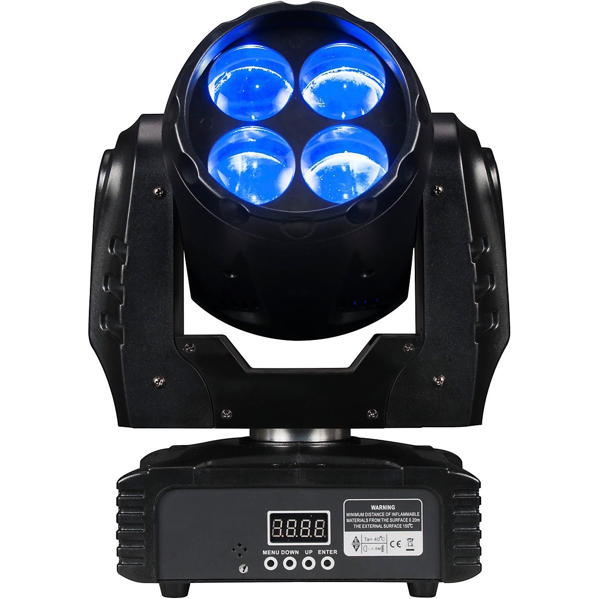 Eliminator Lighting Stealth Craze Moving-Head Mini Beam Light with Color Wheels