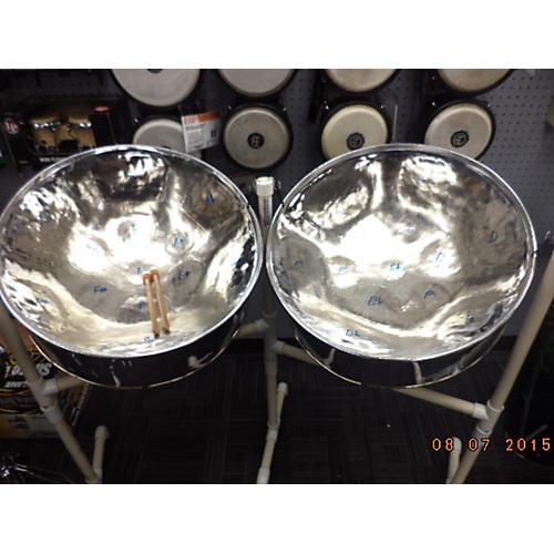 In Store Used Steel Pan Drum Set Silver Steel Drum
