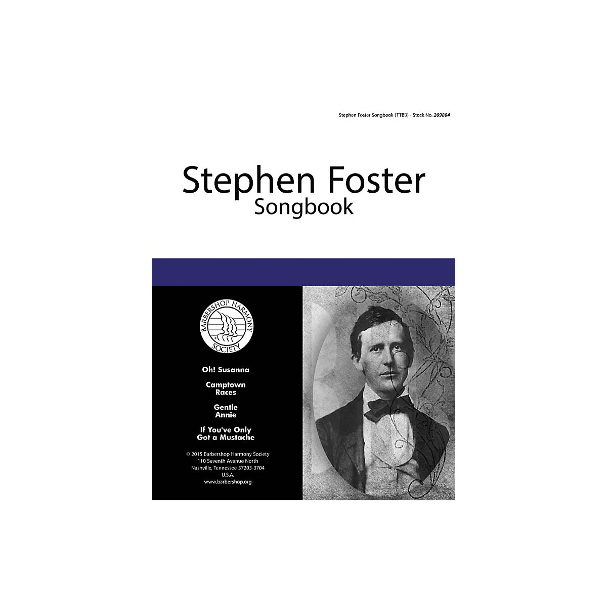 Hal Leonard Stephen Foster Songbook TTBB A Cappella composed by Stephen Foster