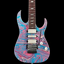 Ibanez Steve Vai Signature Passion & Warfare 25th Anniversary Limited Edition 7-String Electric Guitar Passion Blue/Pink